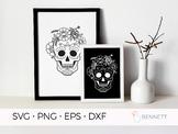 Sugar Skull SVG file