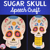 Sugar Skull Speech Therapy Craft {articulation craftivity} Day of the Dead