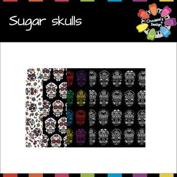 Sugar Skulls Calaveras [Halloween Clips]