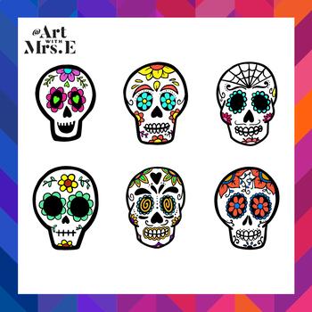 Sugar Skulls   Clip Art