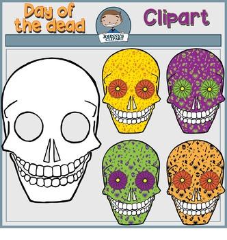 {Freebie} Sugar Skulls Clipart (Dia de los Muertos)