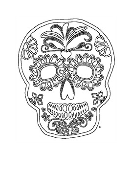 Skull Coloring Pages for Adults - Best Coloring Pages For Kids | 350x270