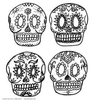 Sugar Skulls Handout and Template