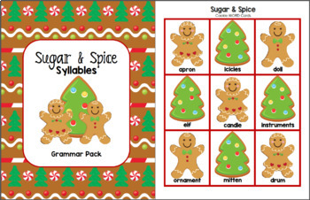 Sugar & Spice Syllables (Grammar Pack)