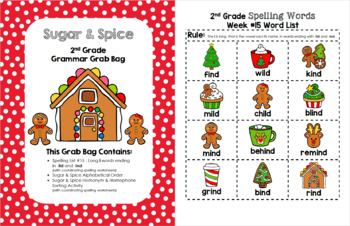 Sugar and Spice 2nd Grade Grammar Grab Bag #15