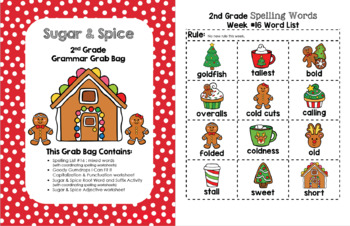 Sugar and Spice 2nd Grade Grammar Grab Bag #16