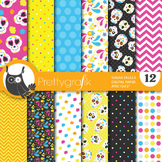 Sugar skull  digital paper, commercial use, scrapbook papers, day dead - PS654