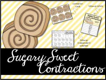 Sugary Sweet Contractions: A Contractions Game & Activity
