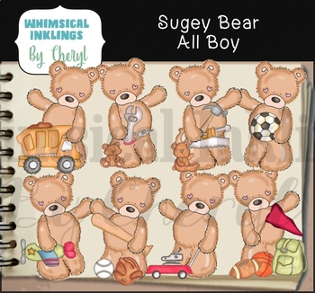 Sugey Bear All Boy Clipart Collection