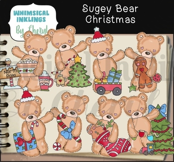 Sugey Bear Christmas Clipart Collection