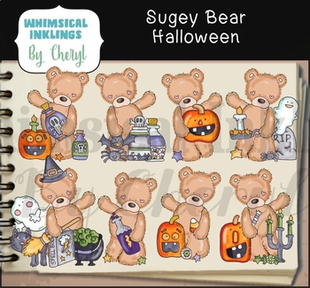 Sugey Bear Halloween Clipart Collection