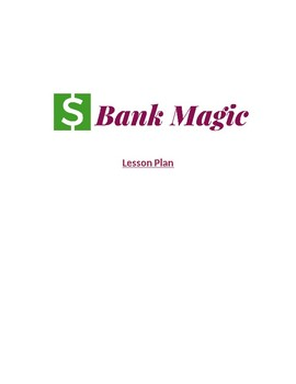 Suggested Lesson Plan for Bank Magic