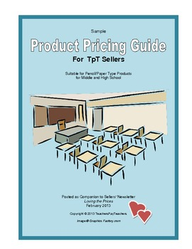Suggested Product Pricing Guide for TpT Sellers