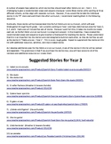 Suggested Story Sequence