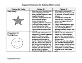 Suggested Techniques for Studying Math & Science