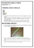 Suggested angle tasks