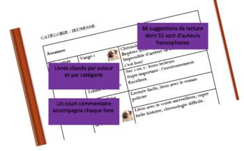 Suggestions de lecture pour la classe de français