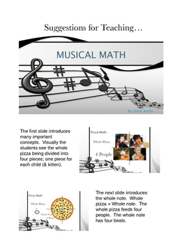 Suggestions for Teaching Musical Math