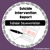 EDITABLE SUICIDE INTERVENTION REPORT - Documentation and Parent Plan of Action