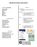 Suicide Prevention Cheat Sheet