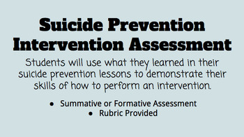 Suicide Prevention Intervention Assessment