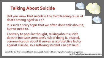 Suicide Prevention Presentation for Parents/Community