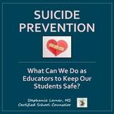 Suicide Prevention Presentation for Staff