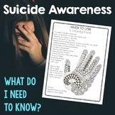 Suicide Prevention and Awareness Sheet