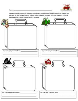 Suitcase Activity - Clothing