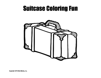 Suitcase Coloring Page