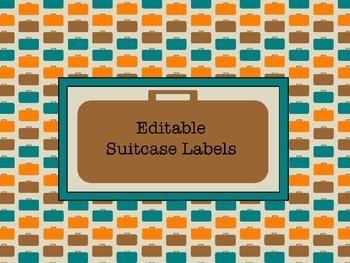 Suitcase Labels- EDITABLE