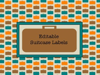 Suitcase Labels- EDITABLE