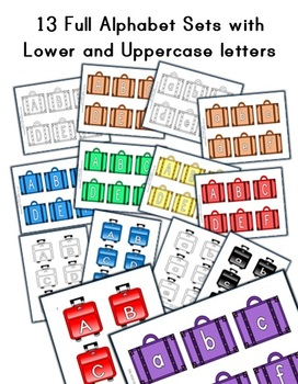 Suitcase / Luggage Letter Decorations