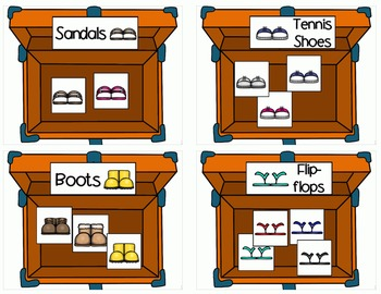 Suitcase Sorting (color and b/w)- sort by attributes