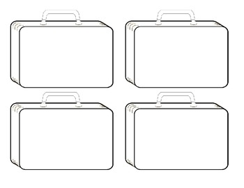 Suitcase Template By SS Designs