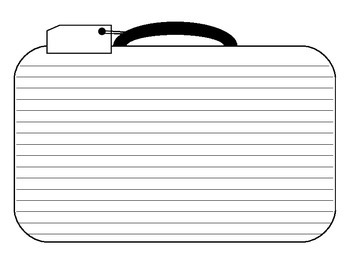 Suitcase Writing Template