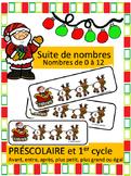 Suites de nombres - Noel