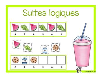 Suites logiques (régularités)  aliments