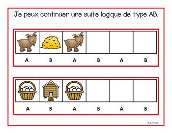 Suites logiques  (régularités) la ferme  (Farm Patterns)