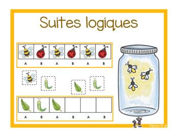 Suites logiques (régularités) les petites bestioles (Insect patterns)
