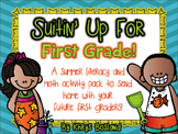 Suitin' Up For First Grade {Summer Printable Pack} {Literacy and Math} {CCSS}