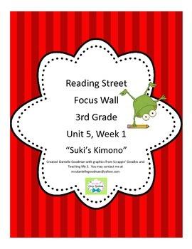 Suki's Kimono Focus Wall Posters Reading Street Grade 3, CC 2013