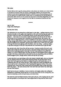 Sullivan Ballou Letter - US Civil War