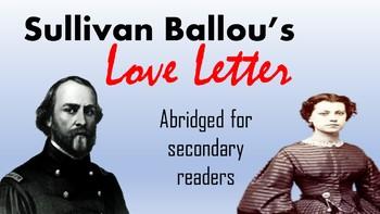 Sullivan Ballou's Love Letter (Abridged and Updated)