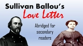 Sullivan Ballou's Love Letter (Abridged and Updated)