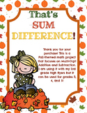 Sum Difference: An Addition and Subtraction Project