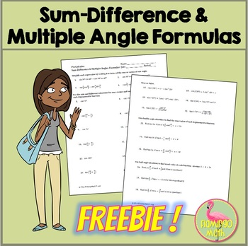 PreCalculus: Sum Difference and Multiple Angles Formulas *FREEBIE*