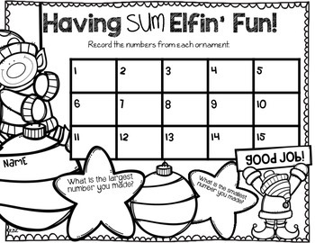 Sum Elfin' Fun Place Value Math Center! Operation ELF FREEBIE!