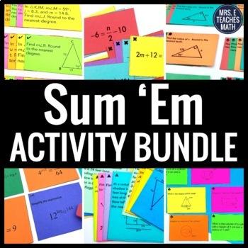Sum Em Activity Bundle