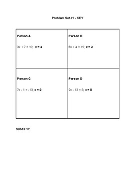 Sum IT - Two Step equations